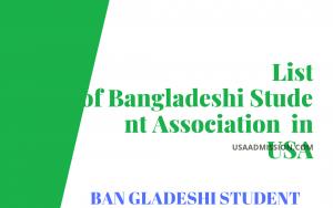 List of Bangladeshi Student Association in USA
