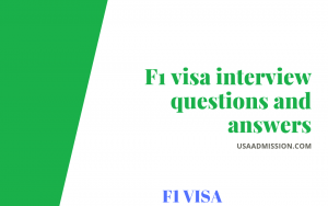 f1 visa interview questions and answers