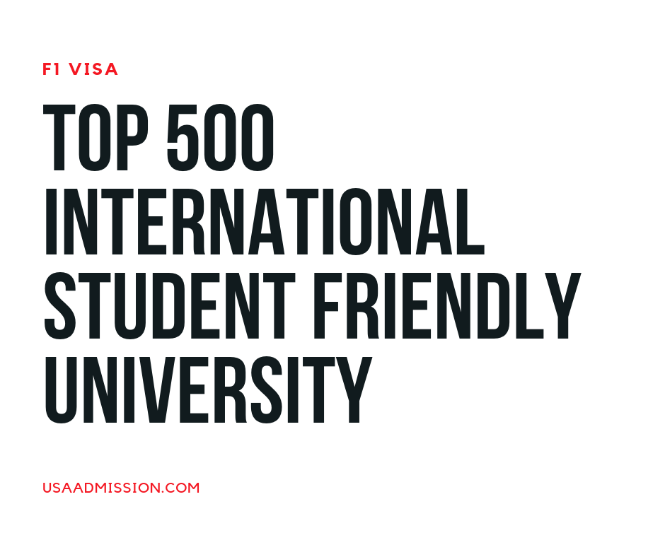 Top 500 International Student Friendly University