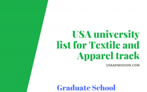 USA university list for Textile and Apparel track