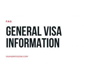 General visa information