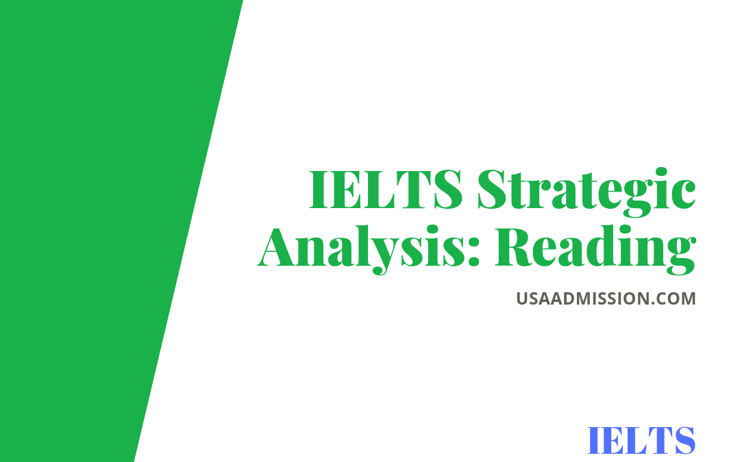 IELTS Strategic Analysis: Reading