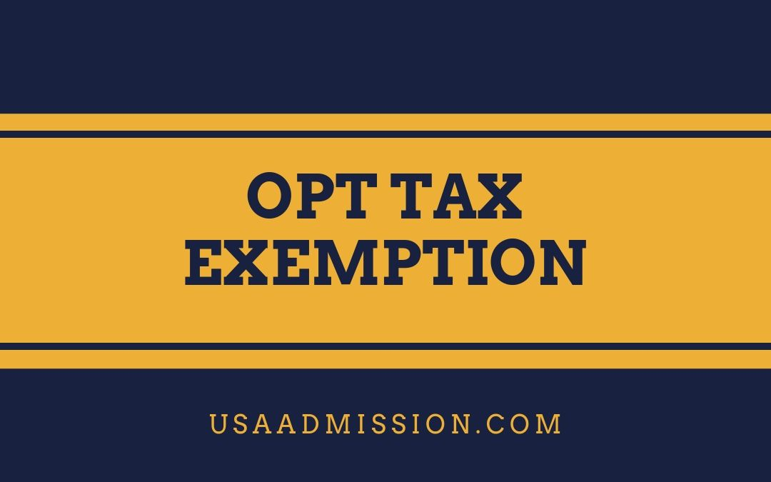 Opt Tax Exemption