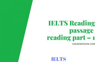 IELTS Reading: passage reading part – 1