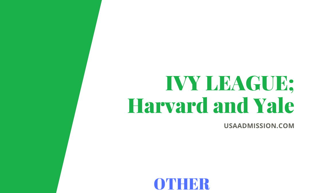 IVY LEAGUE; Harvard and Yale